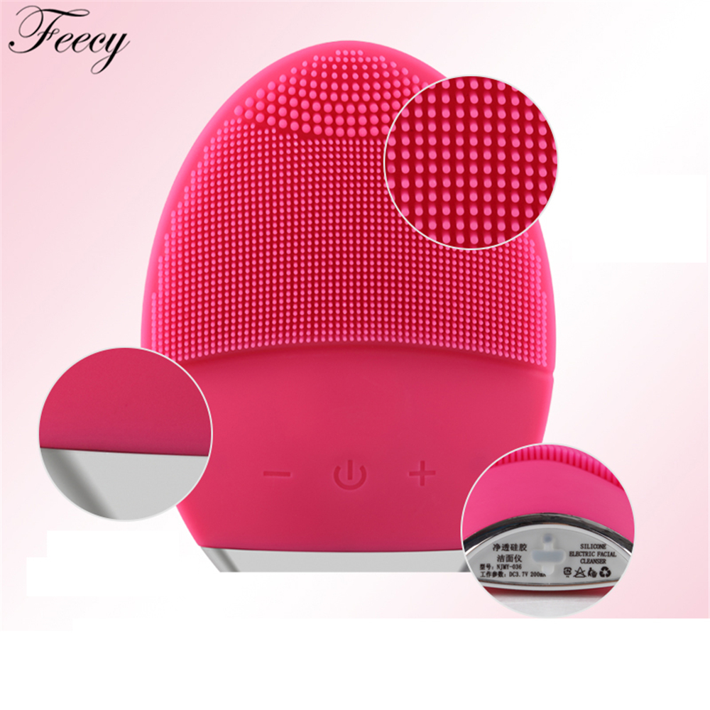 US $13 22 37% OFF|Purge Faces Electric Face Cleanser Vibrate Pore Clean  Silicone Cleansing Brush Massager Facial Vibration Skin Care Spa Massage-in
