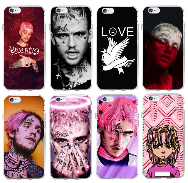 sale retailer 7c13a 62930 US $2.44  PUNQZY Drake Rihanna Lil Peep Rabbit Case For Apple iPhone 4 4S 5  5S SE 6 6S 7 8X Plus Glossy Hard PC Exotic Transparent Cute-in Phone ...