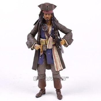 Bajak Laut dari Karibia Kapten Jack Sparrow PVC Action Figure Collectible Model Toy 15 Cm