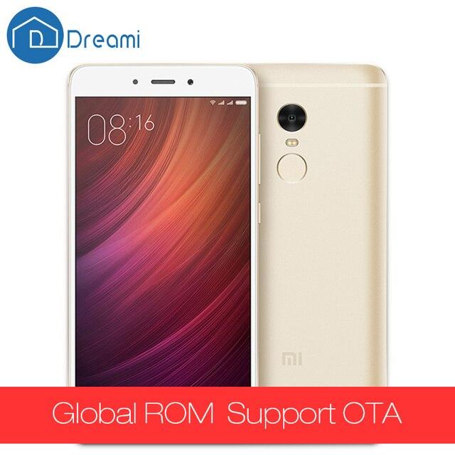 Оригинал Xiaomi Redmi Note 4 Pro Простые MTK Helio X20 дека Core 3 ГБ RAM 64 ГБ ROM 13MP Камера Отпечатков Пальцев Мобильный телефон