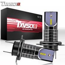 купить TXVSO8 2Pcs h7 led car headlight bulbs Kit With CSP Chips- White 6000K 55W led Headlamp Bulb 12V automotivo Front Lamp Fog Light дешево