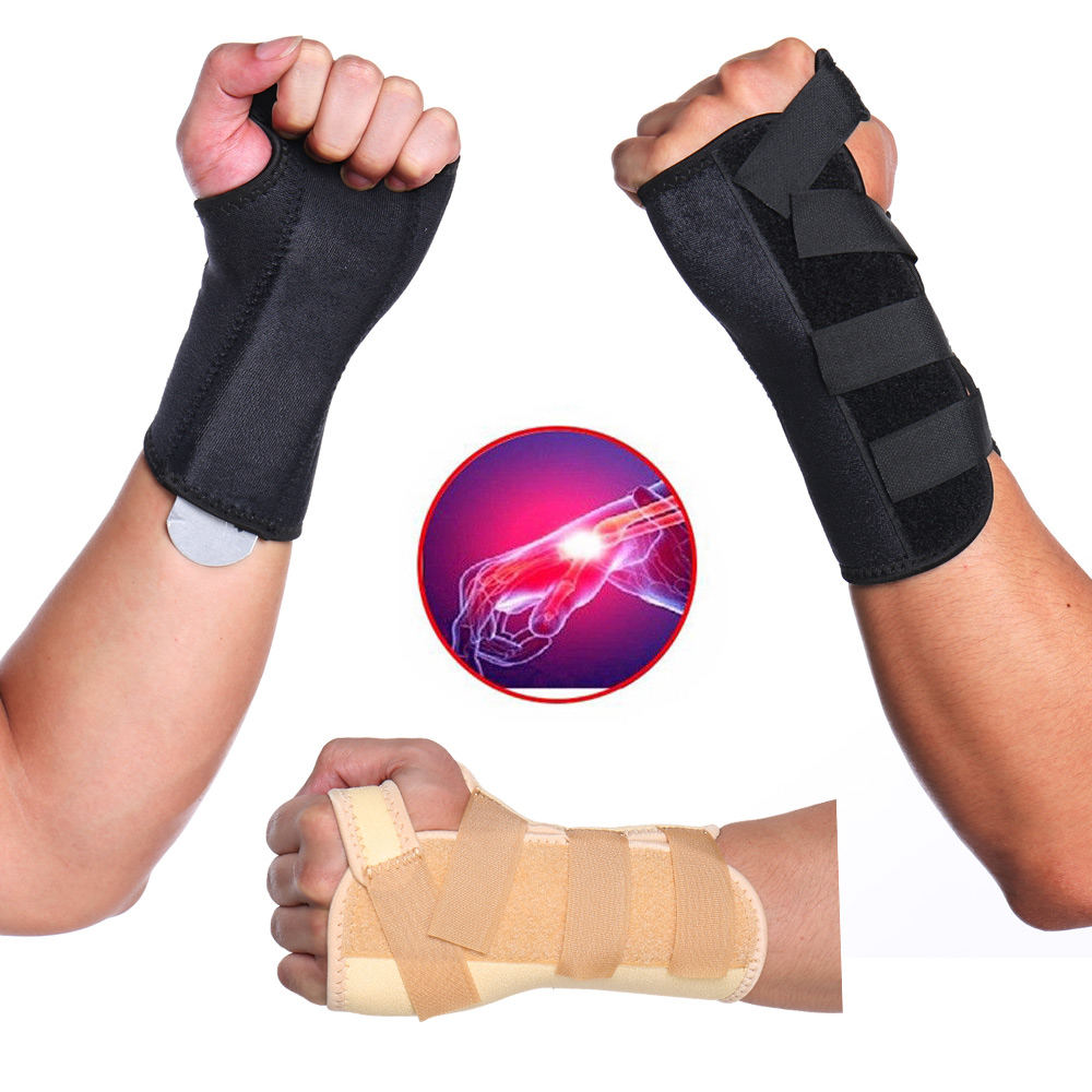 Left Right Hand Carpal Tunnel Medical Wrist Support Brace Support Pads Sprain Forearm Splint for Protector Safe Wrist Support