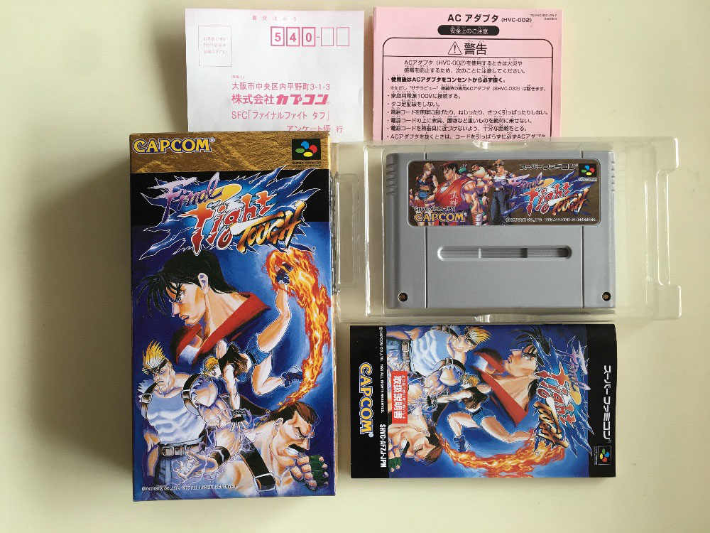 16Bit Games ** Final Fight Tough ( Japan NTSC-J Version!! Box+Manual+Cartridge!! )