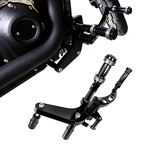 Image 2 - ขัดอลูมิเนียม Billet Forward Control เท้าชุด Fit สำหรับ Harley 2018 2019 FXBB Street Bob Softail รุ่น