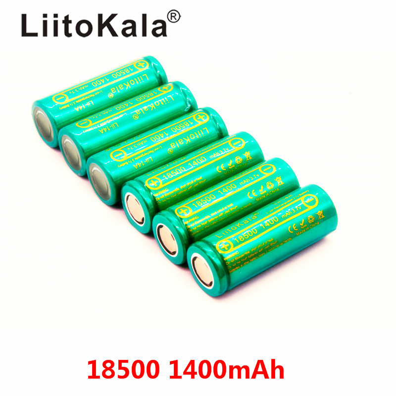 LiitoKala Lii-14A 18500 1400mah rechargeable Battery 18500 battery 3.7V For lashlight Wholesale Safe Li-Ion image