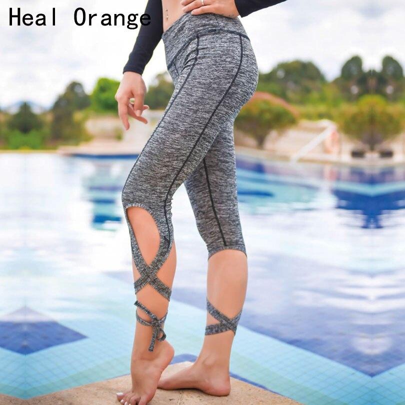Леггинсы для йоги HEAL ORANGE, спортивные Леггинсы с эластичной резинкой на талии для фитнеса и танцев