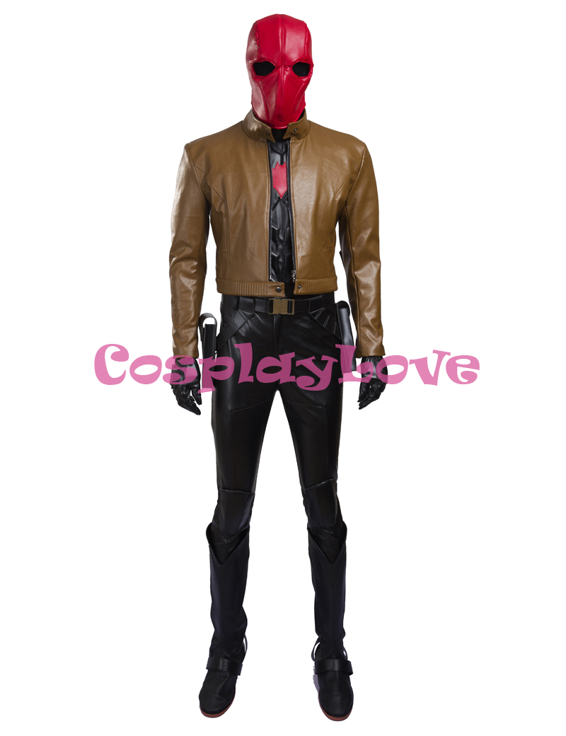 Jason Todd Superhero Batman Red Hood Cosplay Costume Outfit With Mask Any Size