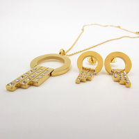 2016 New Sale Big Dubai African Gold Plated Big Necklace Earrings Costume Jewelry Sets Women Wedding