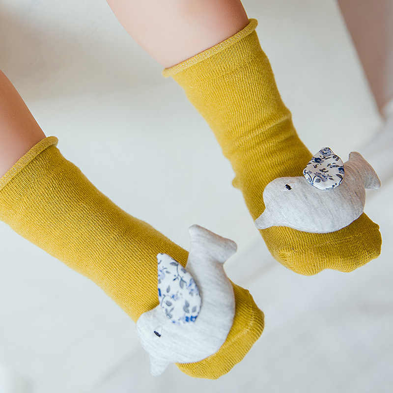 2018 New Arrivals Kawaii Toddler Floor Socks Baby Boys And Girls Sweet 3d Three
