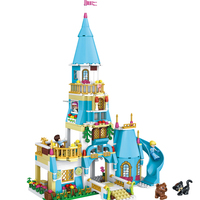 Smartable Friend Princess Building Block Princess Anna And Princess Castle 37008 Figure Bricks Set Toys Compatible