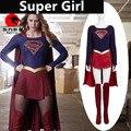 Hot New Teleplay SuperGirl Superwoman Cosplay Costumes Senior Custom Suit