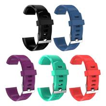 Silicone Replacement Strap Soft Scratch Resistant Wrist Band Watchband Fitness Tracker Comfortable For ID115 Plus