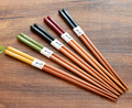 New Chinese Handmade Bamboo Chopsticks Gift Package Drawing Beauty Japanese Style Travelling Tableware Utensils Chopstick K002