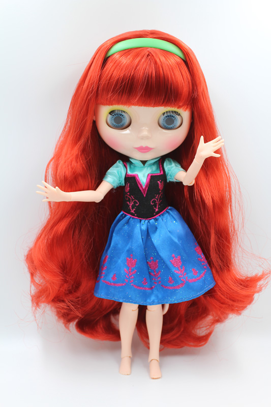 Free Shipping BJD joint RBL 310J DIY Nude Blyth doll birthday gift for girl 4 colour