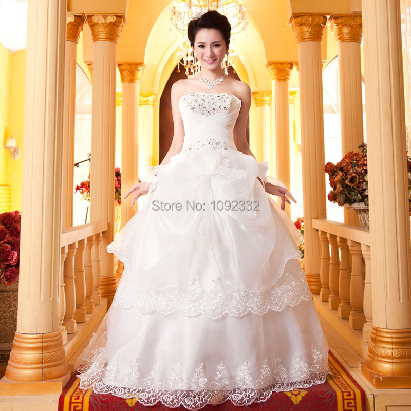 S Stock 2016 New Plus Size Women Tube Top Bridal Gown: S Stock 2016 New Plus Size Women Bridal Gown Wedding Dress