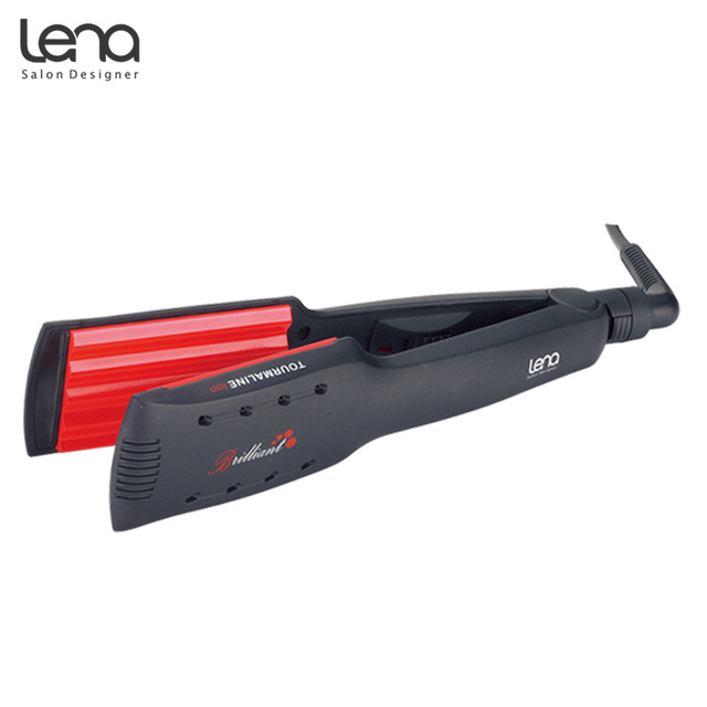 レナLN 84Wプロフェッショナルクリンパーコルゲーション髪カーリング鉄カーラー段ボール鉄スタイリングセラミックプレートカーリング髪スタイラー
