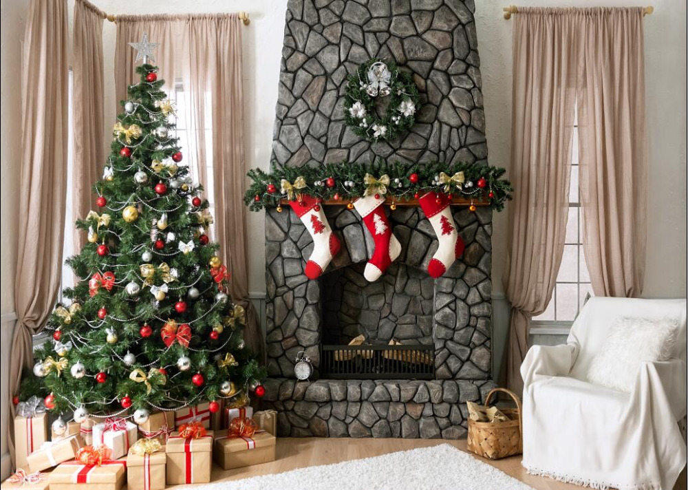 SHENGYONGBAO Vinyl Custom Photography Backdrops Prop Christmas day Theme Photo Studio Background H181122 61 in Background from Consumer Electronics