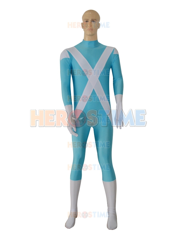 Iceman X-men Superhero Costume spandex halloween cosplay party suit the most popular X-men costume for adult/kids/custom made