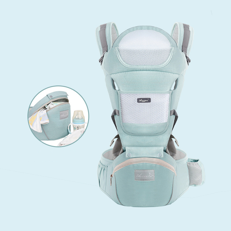 Baby Carrier Waist Stool Newborn Walkers Cotton Mesh Summer Autumn Backpack Hipseat Travel Front Facing Pouch Wrap Kangaroo 2019-in Backpacks & Carriers from Mother & Kids on AliExpress
