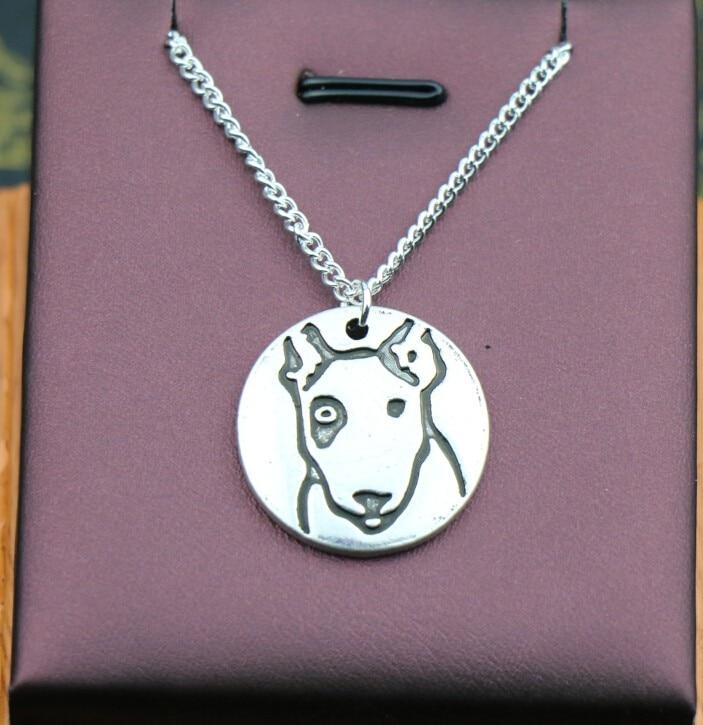 Купить ожерелье ручной работы в стиле ретро с изображением бультерьера