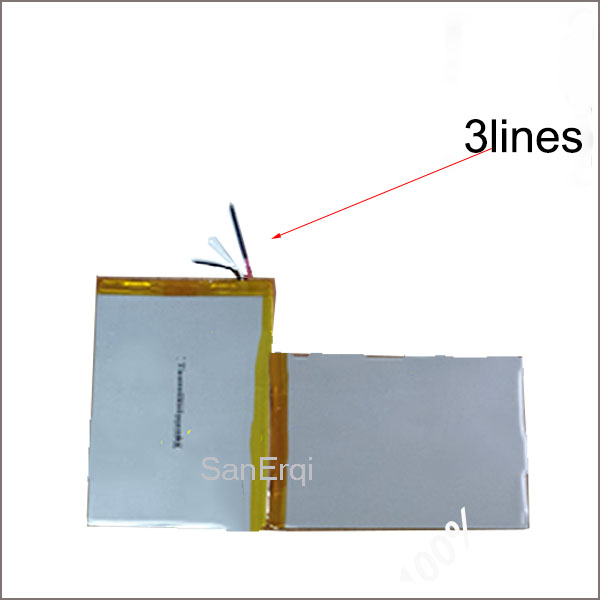 3 wire 3.7V 348211 8000mAh Battery For Teclast X98 3G Battery 3 Lines