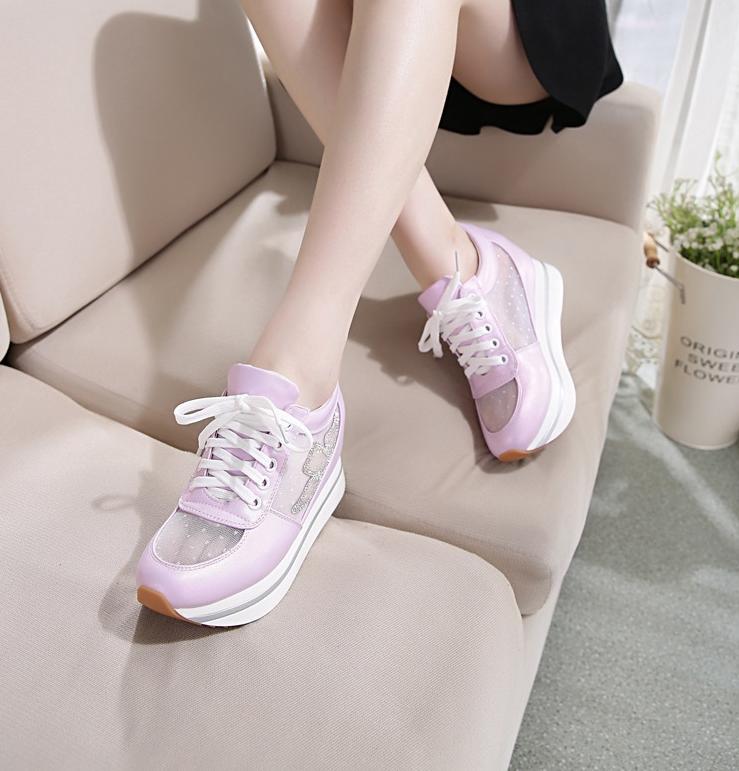 Et Femmes blanc Couple Coréen Toile Casual pourpre 2018 Rose Nouveau Chaussures Haute pq7w70