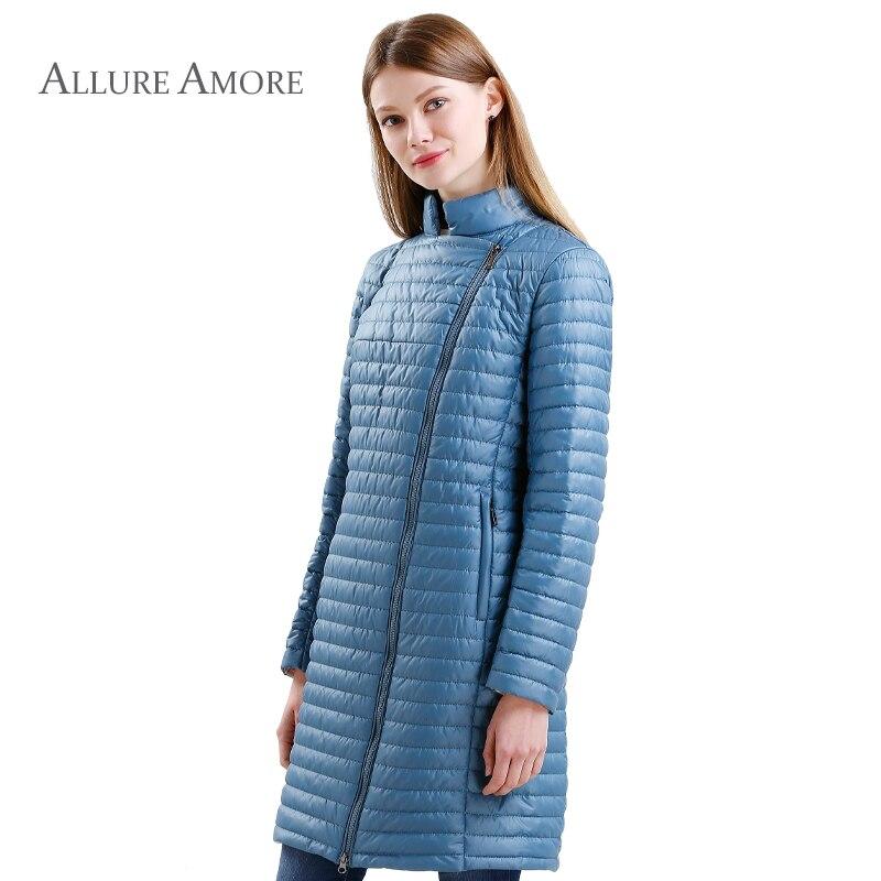 Long Coat Women Parka Spring Jacket Women Warm Coats Jacket Slim Cotton Windproof jacket Women Spring quilted Allure Amore 2018