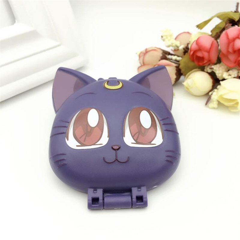 Anime Sailor Moon Luna Cosplay Costumes Accessories Badge Compact Pocket Mirror
