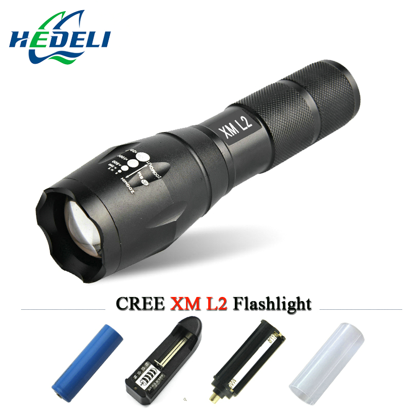 Мощный светодиодный фонарик CREE XM-L2 XML T6 Фонари Перезаряжаемые Факел Масштабируемые Водонепроницаемый AAA или 18650 Батарея лампа ручной свет