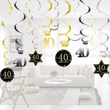 Hot!18/30/40/50/60 Year Olds DIY Spiral Ornaments Birthday Confetti Balloon Birthday Balons Anniversary Party Decorations