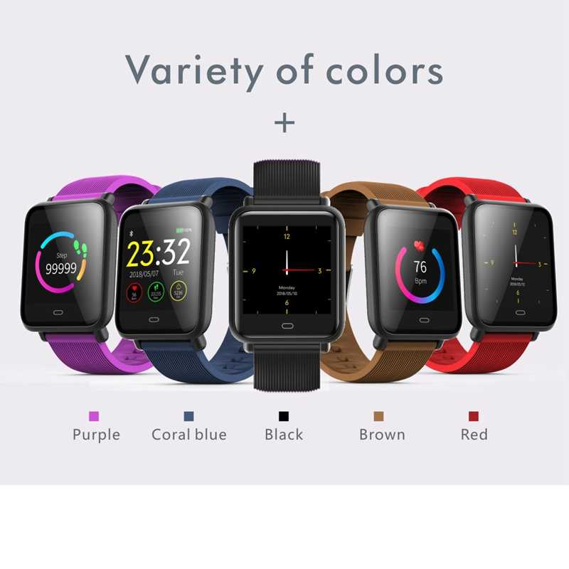 Q9 Smart Watch Waterproof IP67 Blood Pressure Heart Rate Monitor Sport Fitness Trakcer Watch Men Women Smartwatch For huawei IOS