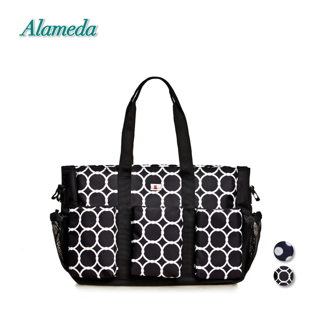 569c0d266c Stylish Diaper Bag Tote Large Capacity Nappy Messenger Bag Polka Dot Baby  Bag Travel Organizer for Stroller Free Changing Pad