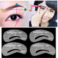 Pro 1 Pcs Optional Grooming Stencil for Eyebrows Make Up Shaping DIY Beauty Eye brow Templates Makeup Tools 24 Styles #ND070