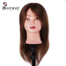 Real Hair Mannequin Head With Hair Human Hair Training Maniqui Head For Hairdresser Hairdressing Doll Heads Manikin Head