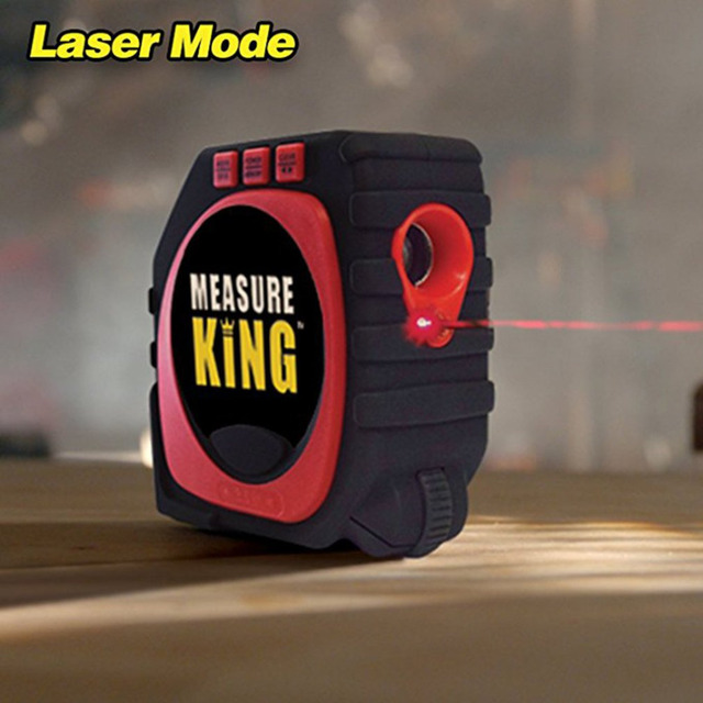 3 in 1 Measuring Tape with Roll & Cord Mode High Accuracy Laser Digital Tape High Impact Professional Measuring Tool