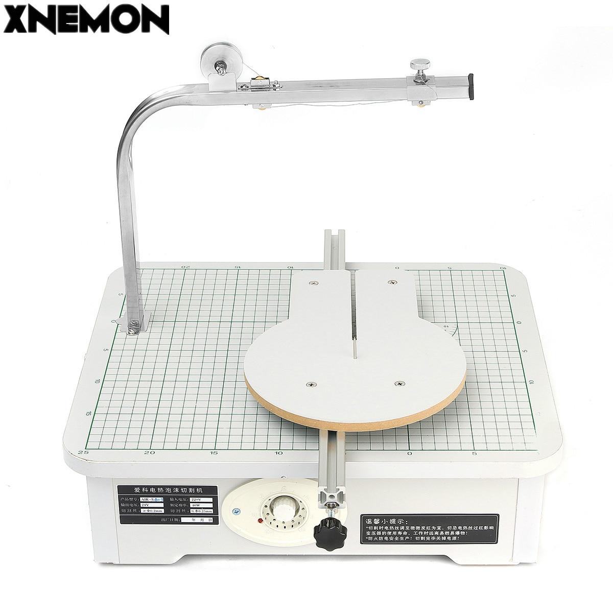 Mousse de cire de panneau de XNEMON 220 V, éponge, coton de perle, découpeuse S403 outil de Table de support de travail coupe de styromousse mousse KT