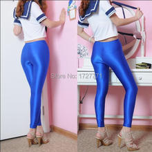LS35 Shiny Lycra Spandex Opaque Tights Unisex original Fetish Zentai Leggings Pants