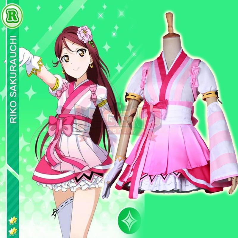 Cosplay legend Love Live!  cosplay Aqours! lovelive sunshine ed dreamer Sakurauchi Riko cosplay adult costume  full set all size
