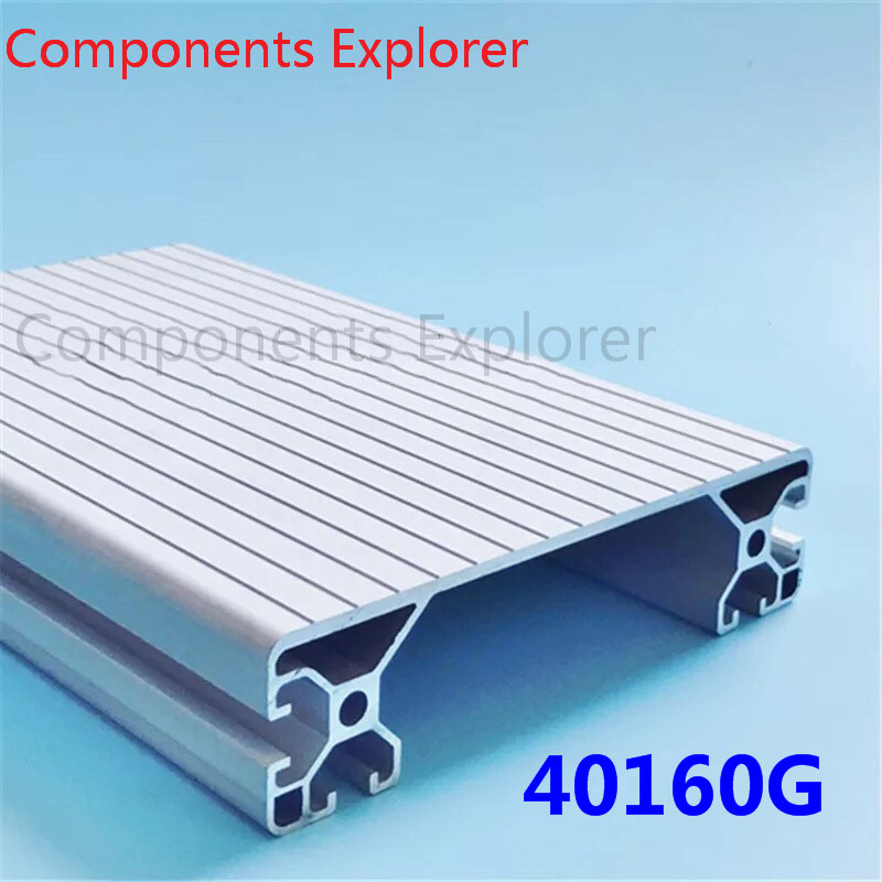 Arbitrary Cutting 1000mm 40160G Aluminum Extrusion Profile,Silvery Color.