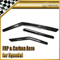 EPR For Hyundai Veloster Carbon Fiber Window Visor Wind Deflector Gamma Turbo TCi GDi MPi Car Accessories Car Styling