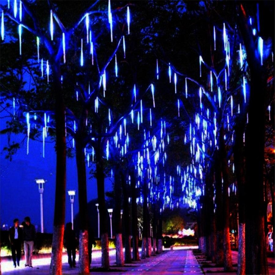 Thrisdar 8 шт./компл. 50 см метеоритный дождь трубы свет шнура Гарленд 240 светодиоды Рождество Фея Строка Света Свадьба Garden праздник