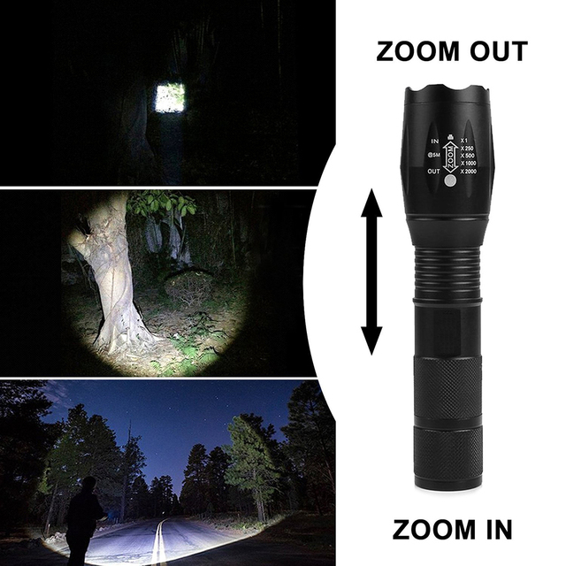 ZK20 Dropshipping Q250 XML-T6 8000 Lumens TL360 Flashlight LED Torch EDC Flashlight Zoomable Bicycle Light by 1*18650 Battery 6