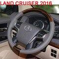 Aleación de aluminio Del Volante Con Madera Para Toyota Land Cruiser 200 Accesorios 2016-2017