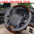 Aluminum Alloy Steering Wheel With Wooden For Toyota Land Cruiser 200 Accessories 2016-2017