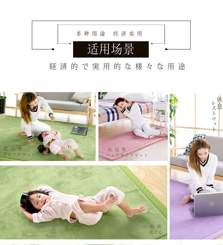 Baby Play Mat Coral Velvet Antiskid Design Crawling Mat  Baby Carpet Mat for Children Game Pad Super Soft Comfortable Playmat  (13)