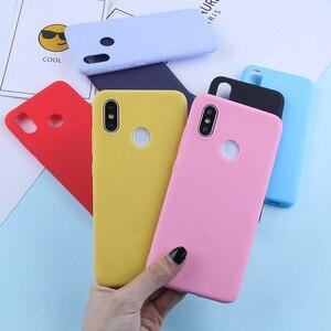 Image 2 - Cukierki kolor Case dla Xiao mi mi 9 8 Lite czerwony mi uwaga 7 6 5 Pro 4X TPU silikonowy matowy futerał na czerwony mi 7 6 Pro 6A 5 Plus 5A 4A 4X