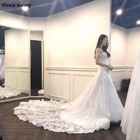 Robe De Mariage Custom Made A Line Lace Appliques Sweetheart Wedding Dresses Beaded Sexy Vintage Wedding
