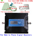 LCD Display ! Dual Band GSM 900MHZ Repeater 2G 3G 2100MHZ Cell Phone Signal Repeater , GSM 3G Cellular Signal Booster + Cable
