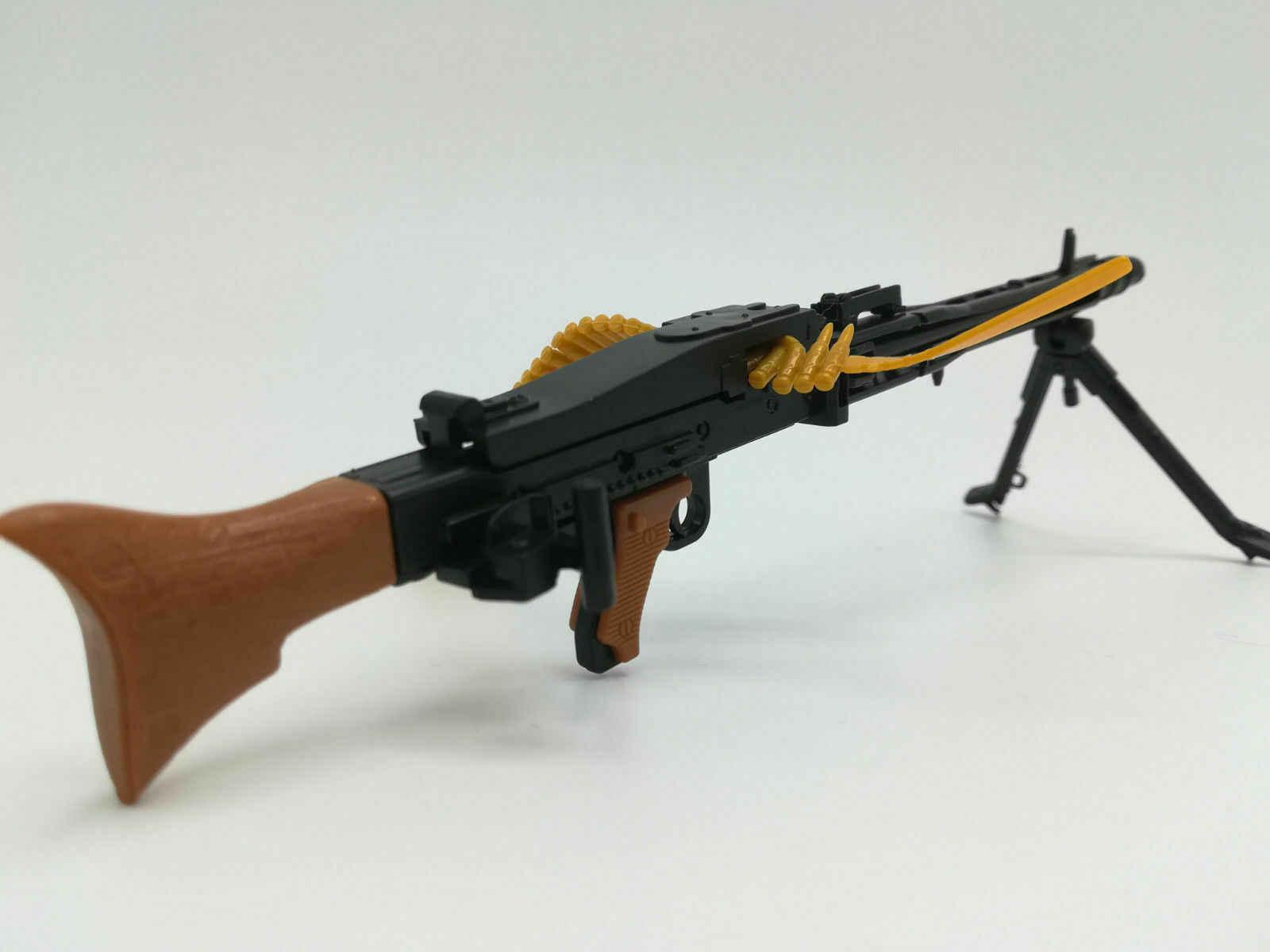 """1/6 مقياس MG42 مسدس لعبة نموذج الجمعية الألغاز قوالب بناء بندقية الجندي رشاش صالح 12 """"عمل الشكل"""