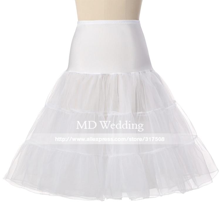 Free Short Organza Halloween Petticoat Crinoline Vintage Wedding Bridal Petticoat for Wedding Dresses Underskirt Rockabilly Tutu